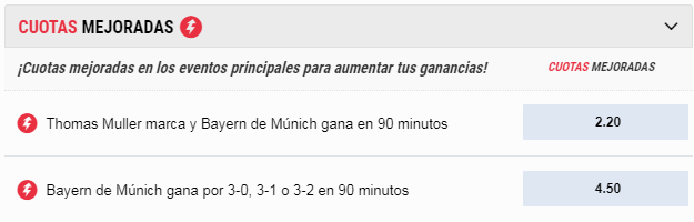 Apuestas Bayern vs Sevilla