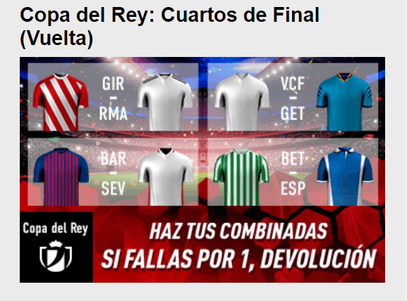 Ofertas Copa del Rey Sportium - Apuestas Deportivas 24h