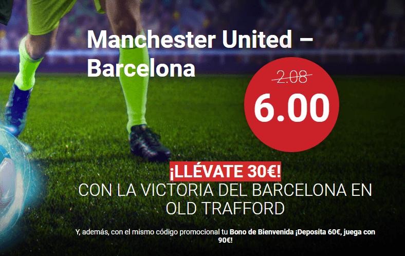 Apuestas Manchester Barcelona