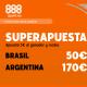 888 sport supercuotas brasil argentina