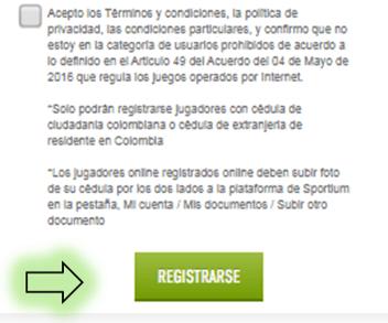 registrarse sportium colombia