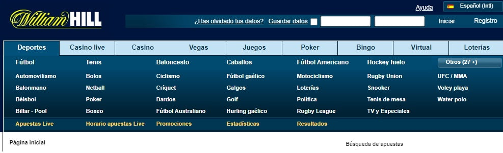 registrarse en William Hill