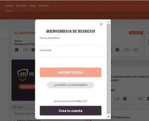 registrarse en Betwarrior desde Perú
